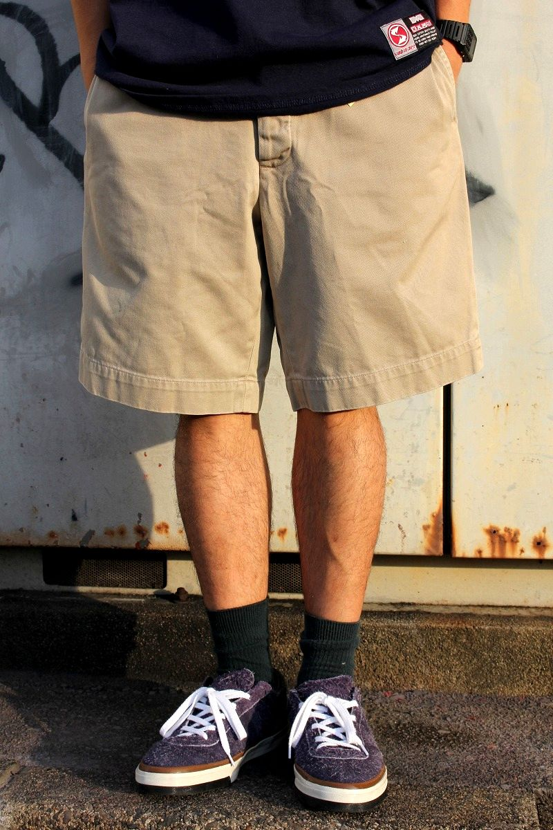 USED!!! RRL / CHINO SHORTS (90'S) / khaki
