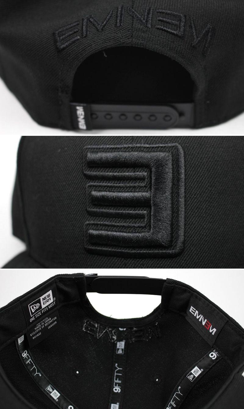 EMINEM×NEWERA / LOGO SNAPBACK CAP / black