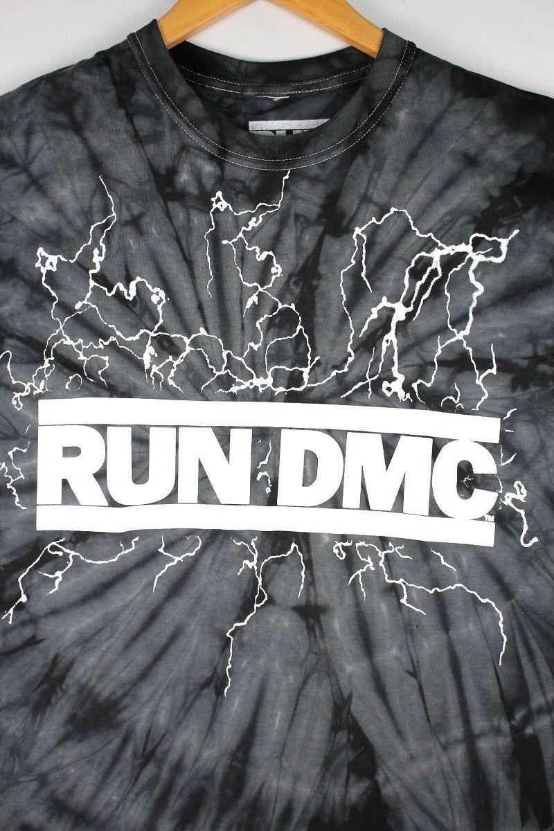 RUN DMC / TYE-DYE Tee / black