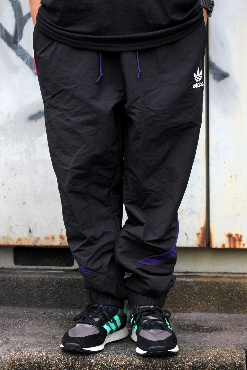 adidas ORIGINALS / SPORTIVE TRACK PANTS / black×pink×dark purple