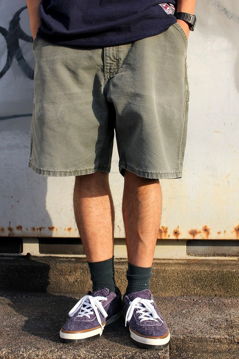 USED!!! CARHARTT / PAINTER SHORTS (00'S) / washed olive