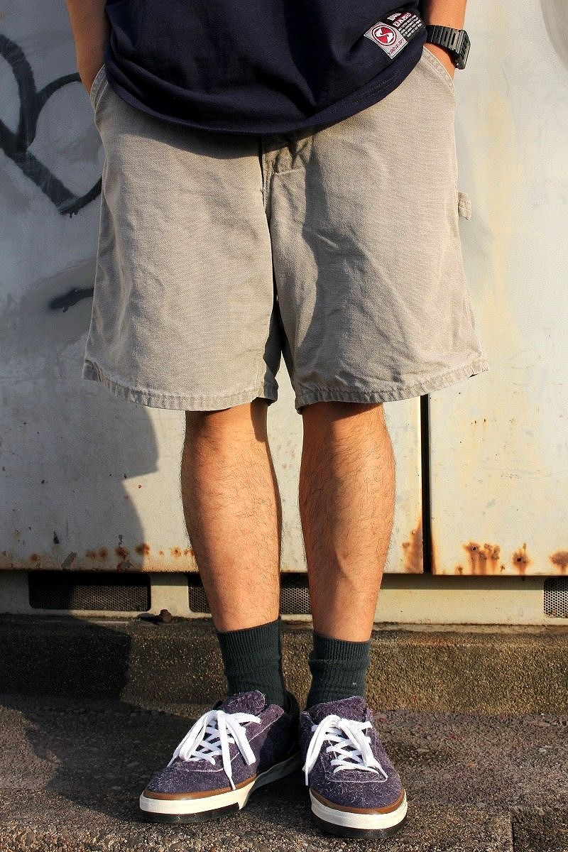 USED!!! CARHARTT / PAINTER SHORTS (00'S) / washed khaki