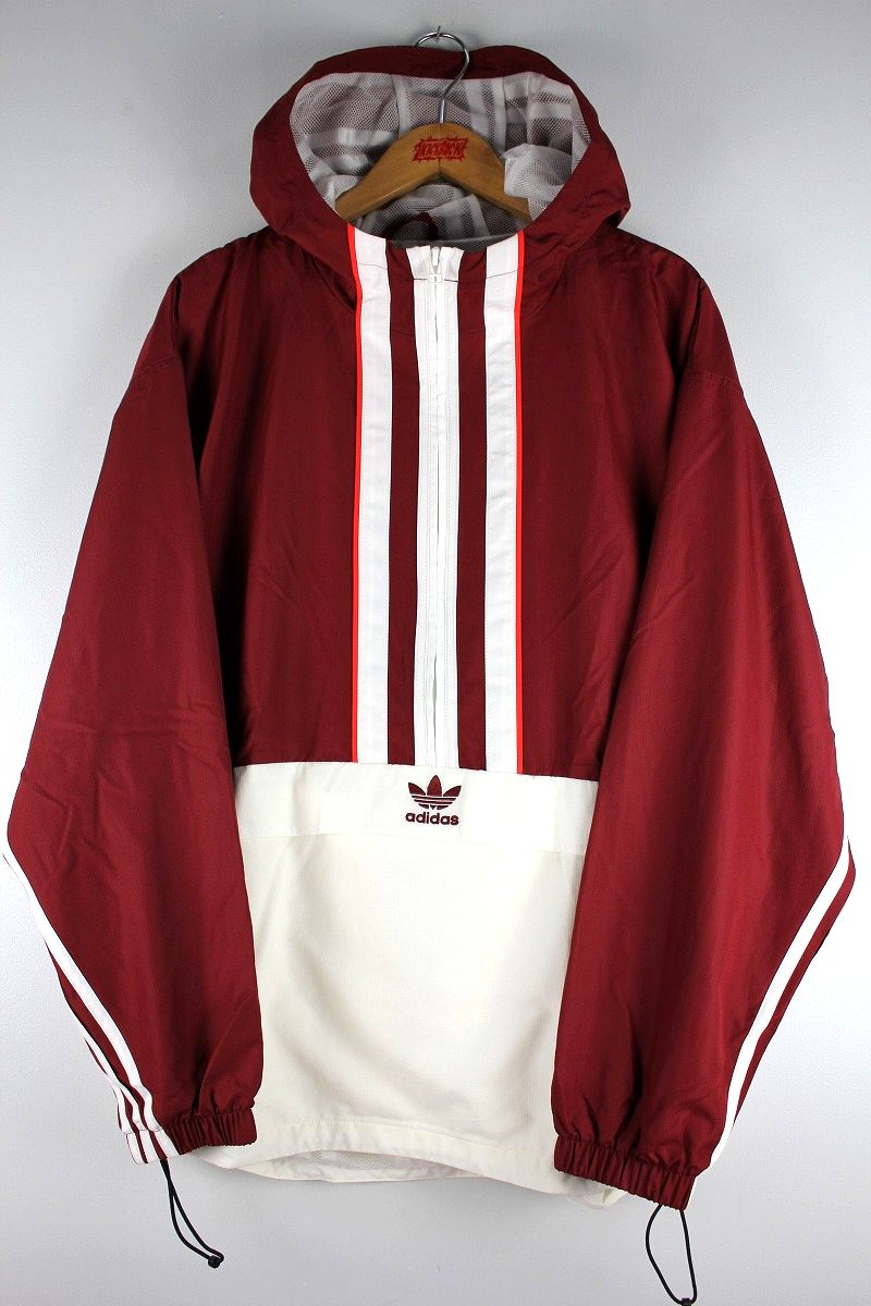 adidas ORIGINALS / AUTHENTIC ANORAK / burgundy×white×orange