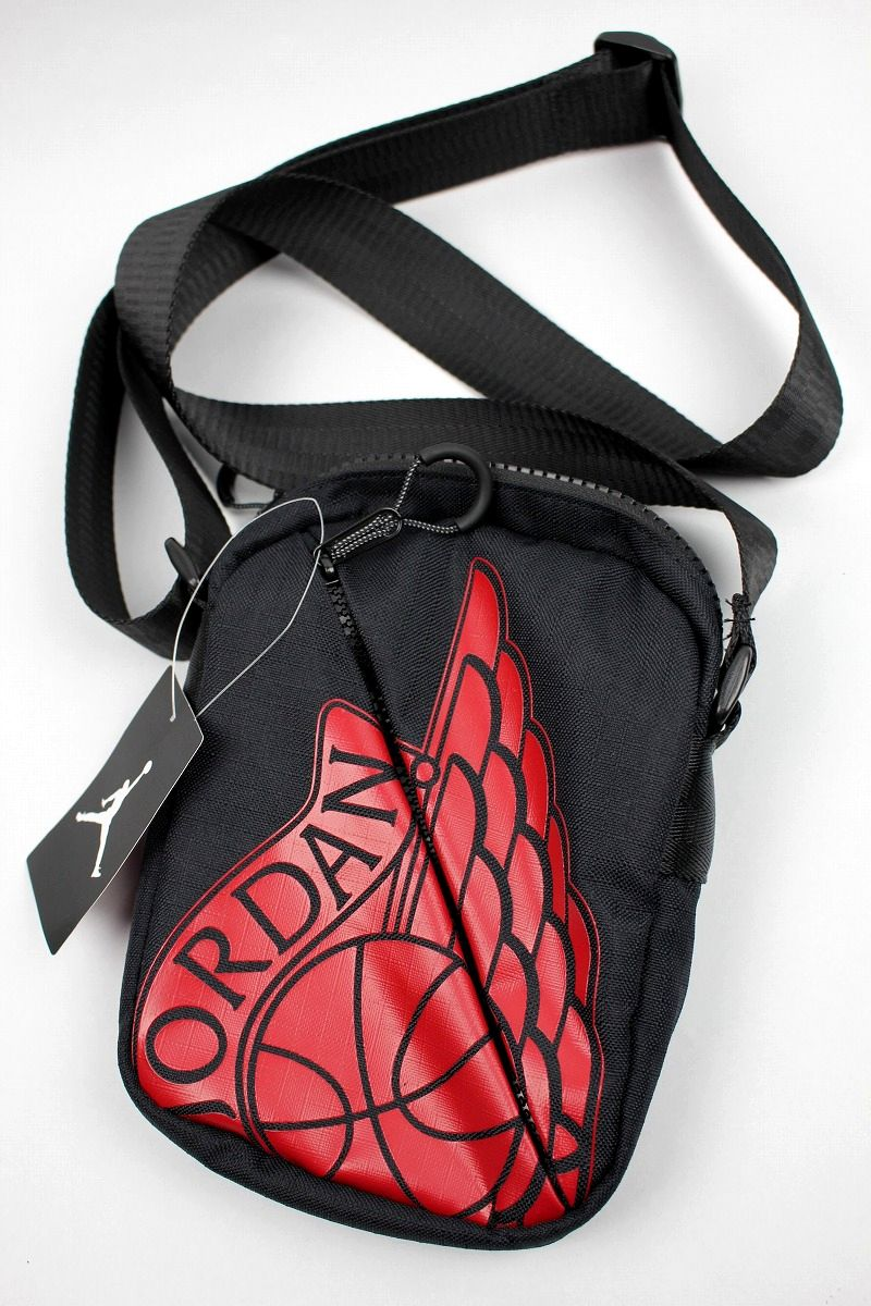 "AIR JORDAN / ""WINGS"" FESTIVAL BAG / black×red"
