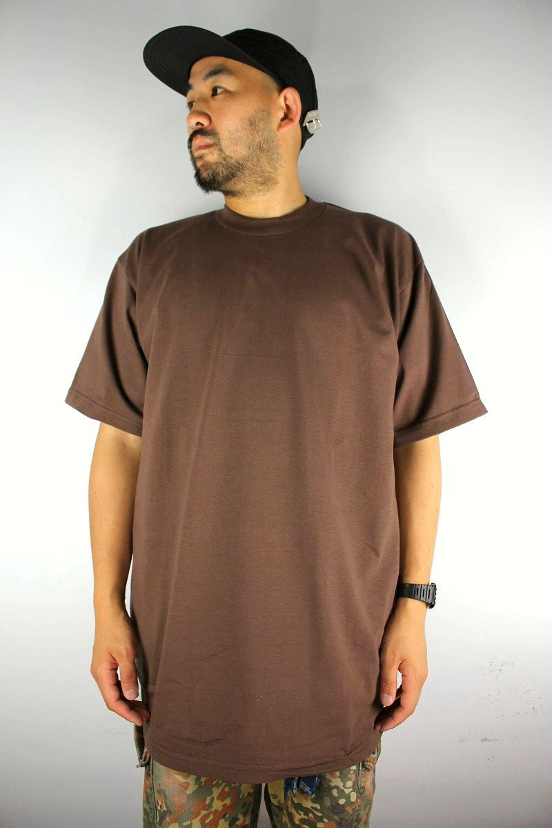 PRO CLUB / HEAVY WEIGHT CREWNECK Tee (TALL SIZE) / brown