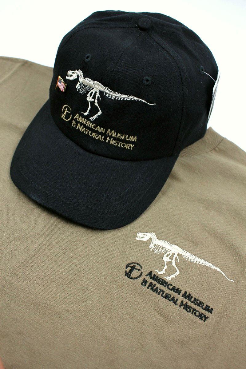 AMERICAN MUSEUM OF NATURAL HISTORY / CAP&T-SHIRT SET / black&khaki