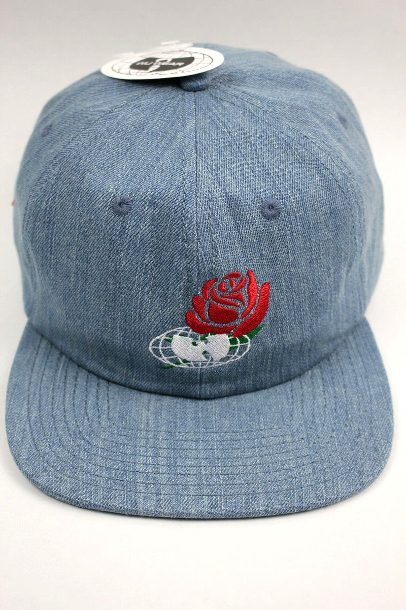 "WU WEAR / ""TRIUMPH"" DENIM SNAPBACK CAP / washed indigo"