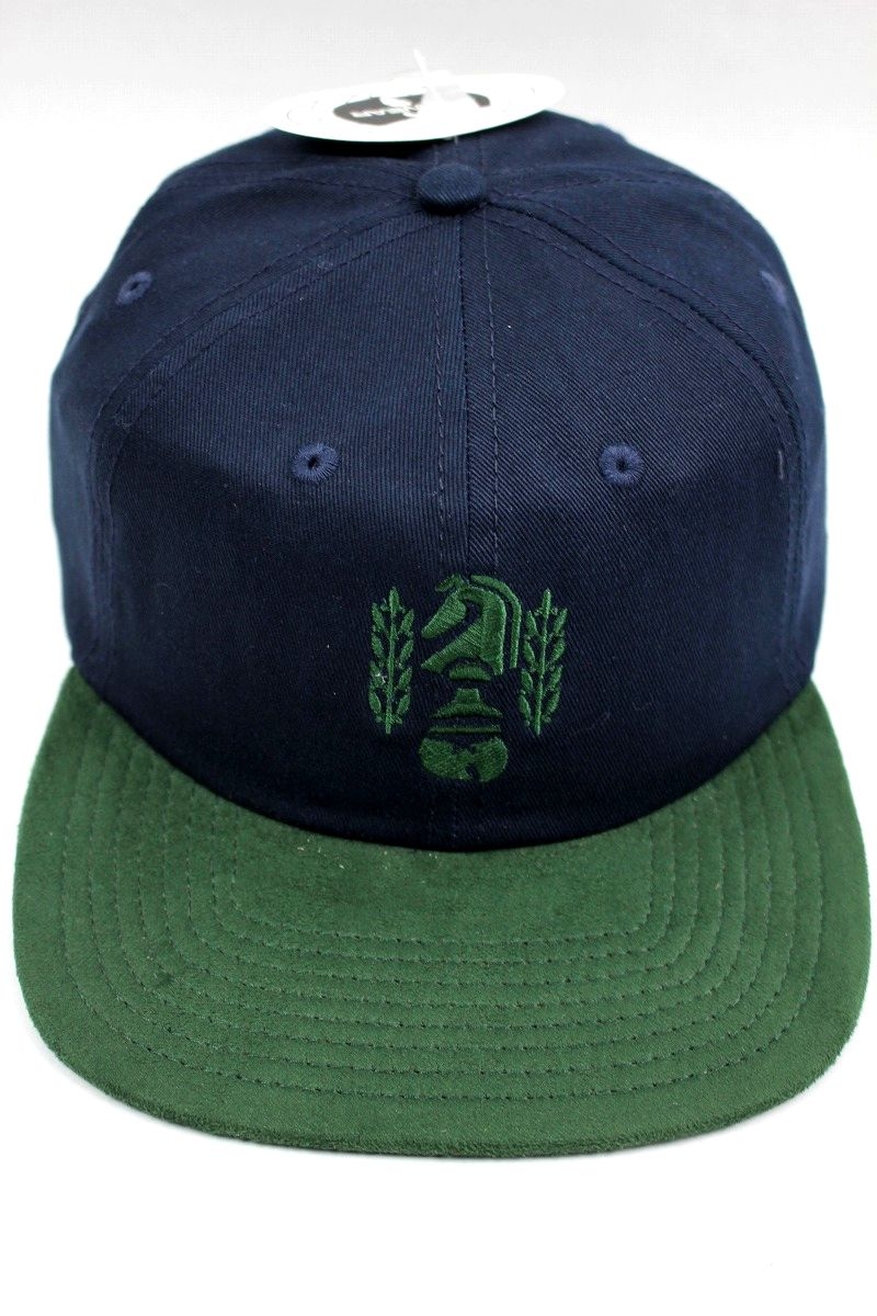 "WU WEAR / ""CHESSBOXING"" SNAPBACK CAP / navy×green"
