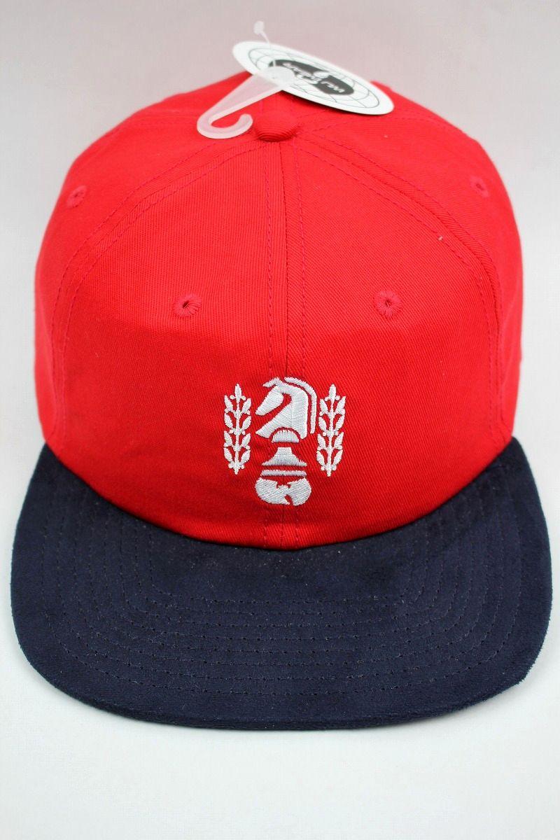 "WU WEAR / ""CHESSBOXING"" SNAPBACK CAP / red×navy"