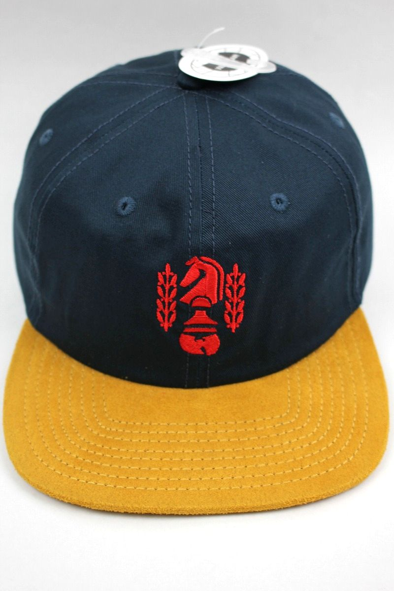 "WU WEAR / ""CHESSBOXING"" SNAPBACK CAP / dark green×mustard"