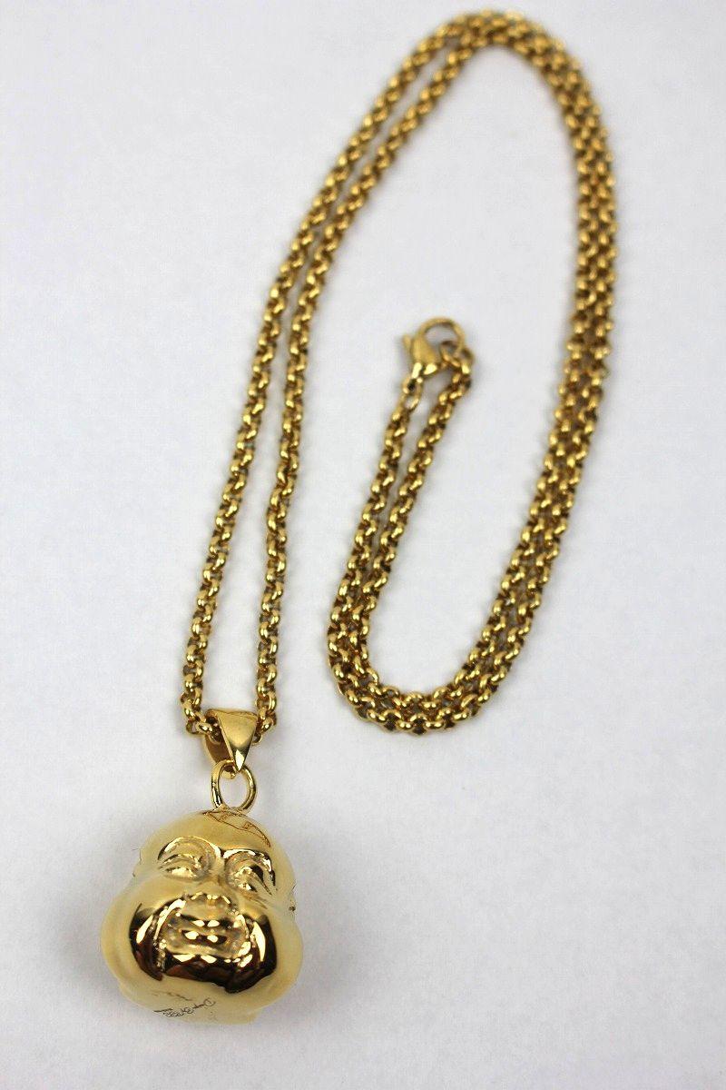 """GOLDEN GILT / """"3 FACE BUDDHA"""" NECKRACE / gold"""