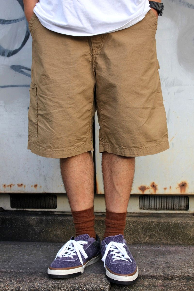 CARHARTT / LOOSE FIT CANVAS WORK SHORTS / khaki