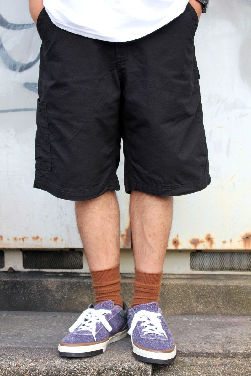 CARHARTT / LOOSE FIT CANVAS WORK SHORTS / black