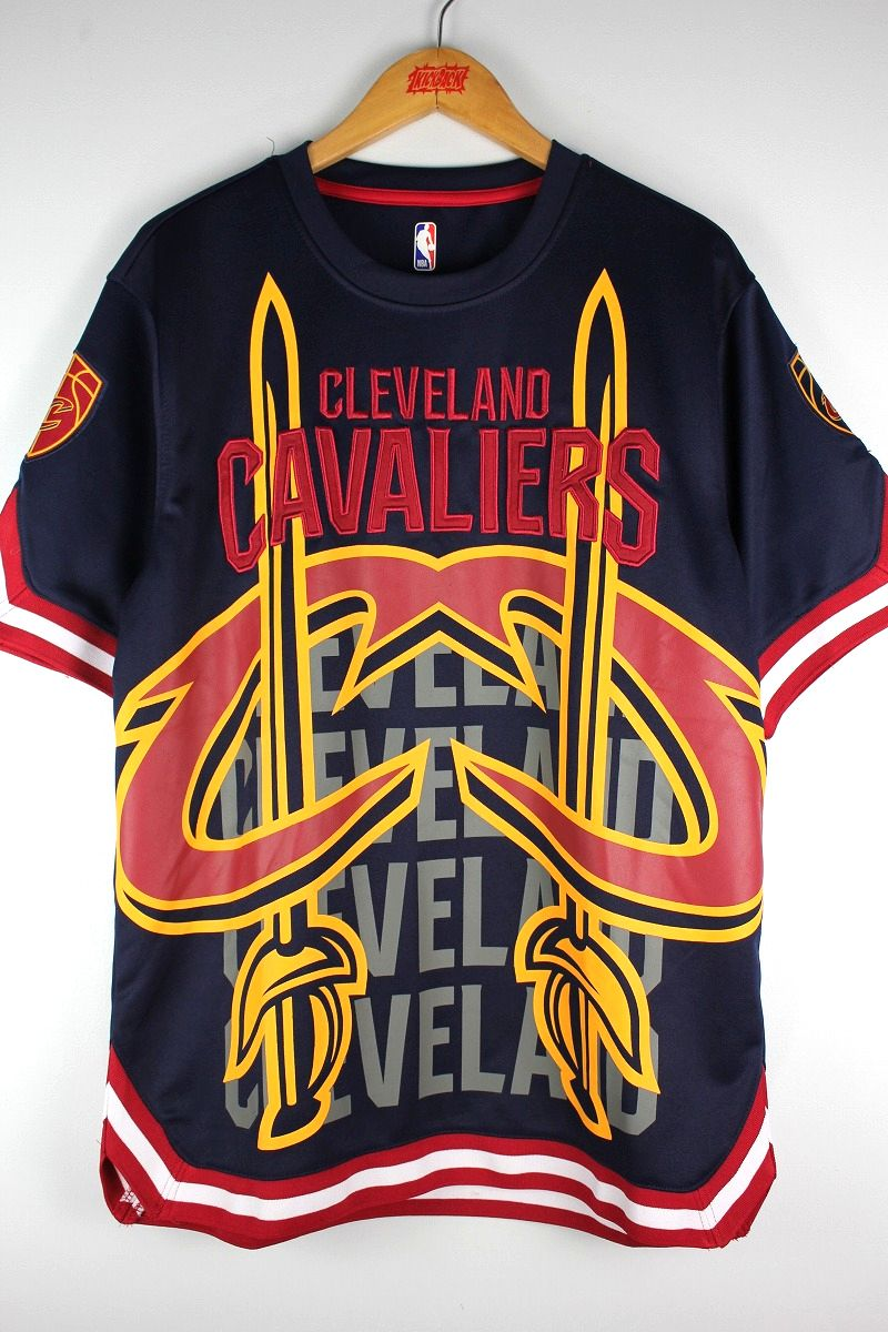 """UNK / """"CLEVELAND CAVALIERS"""" SHOOTING SHIRTS / navy×red×white"""