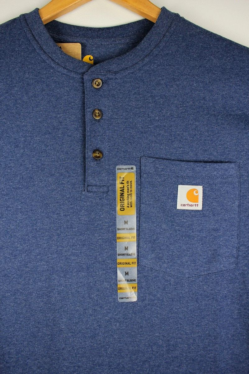 CARHARTT / HENLEY-NECK POCKET Tee / indigo heather