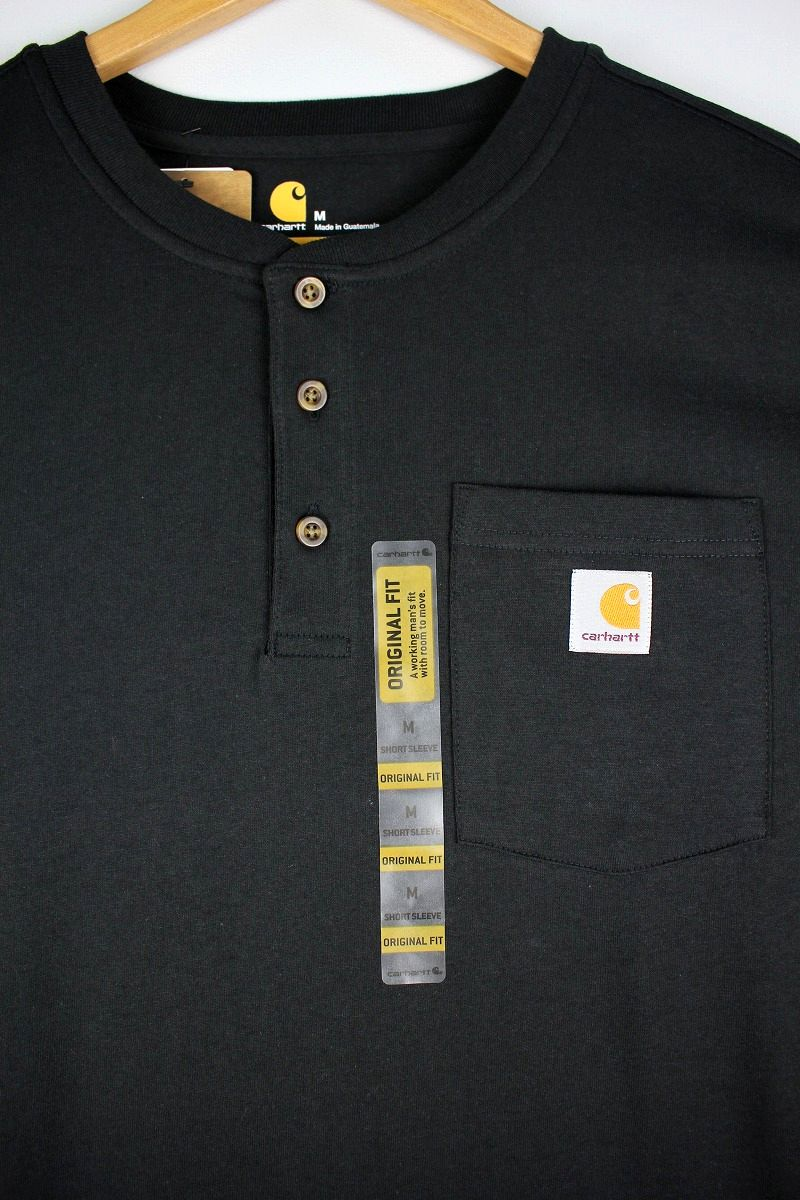 CARHARTT / HENLEY-NECK POCKET Tee / black