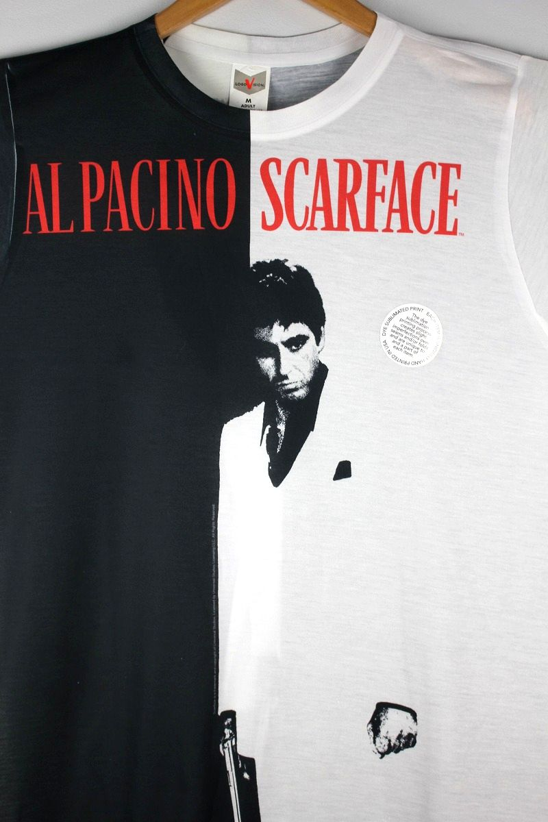 "SCARFACE / ""BIG POSTER"" ALL OVER PRINT Tee / black×white"