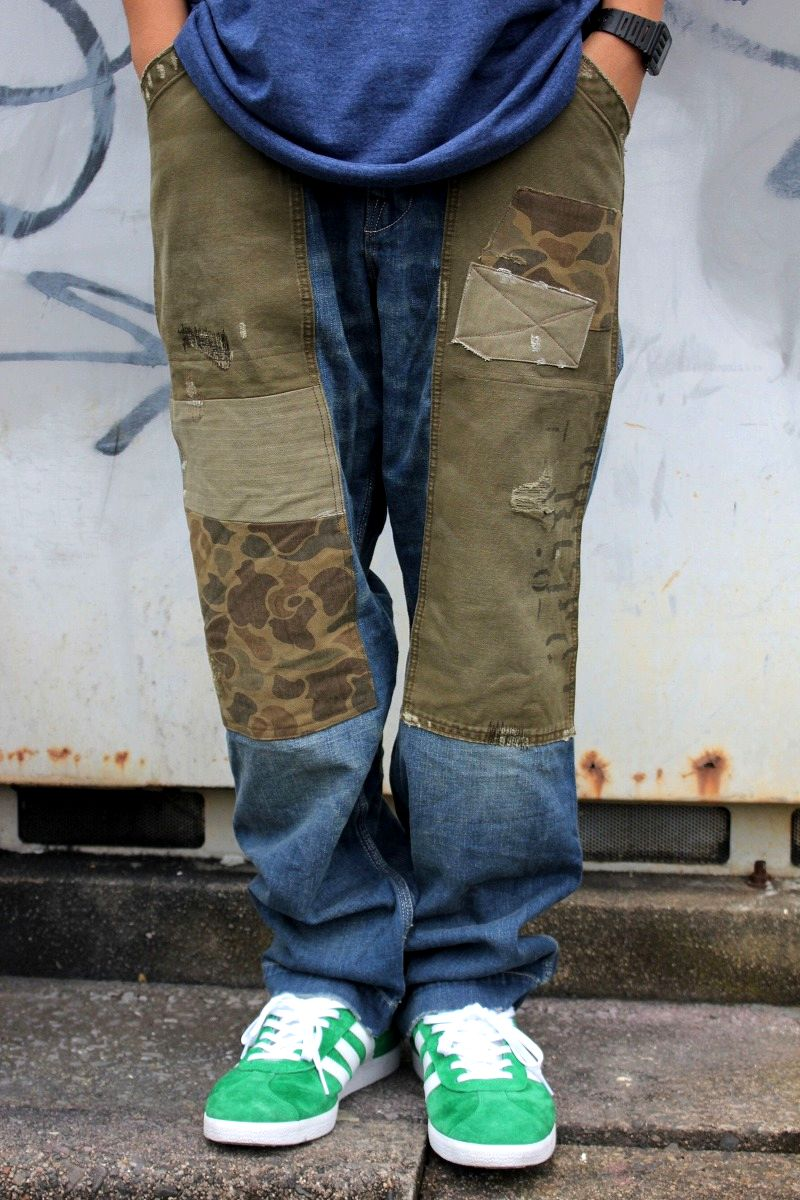 POLO RALPH LAUREN / PATCHWORK CARPENTER DENIM PANTS / vintage wash indigo