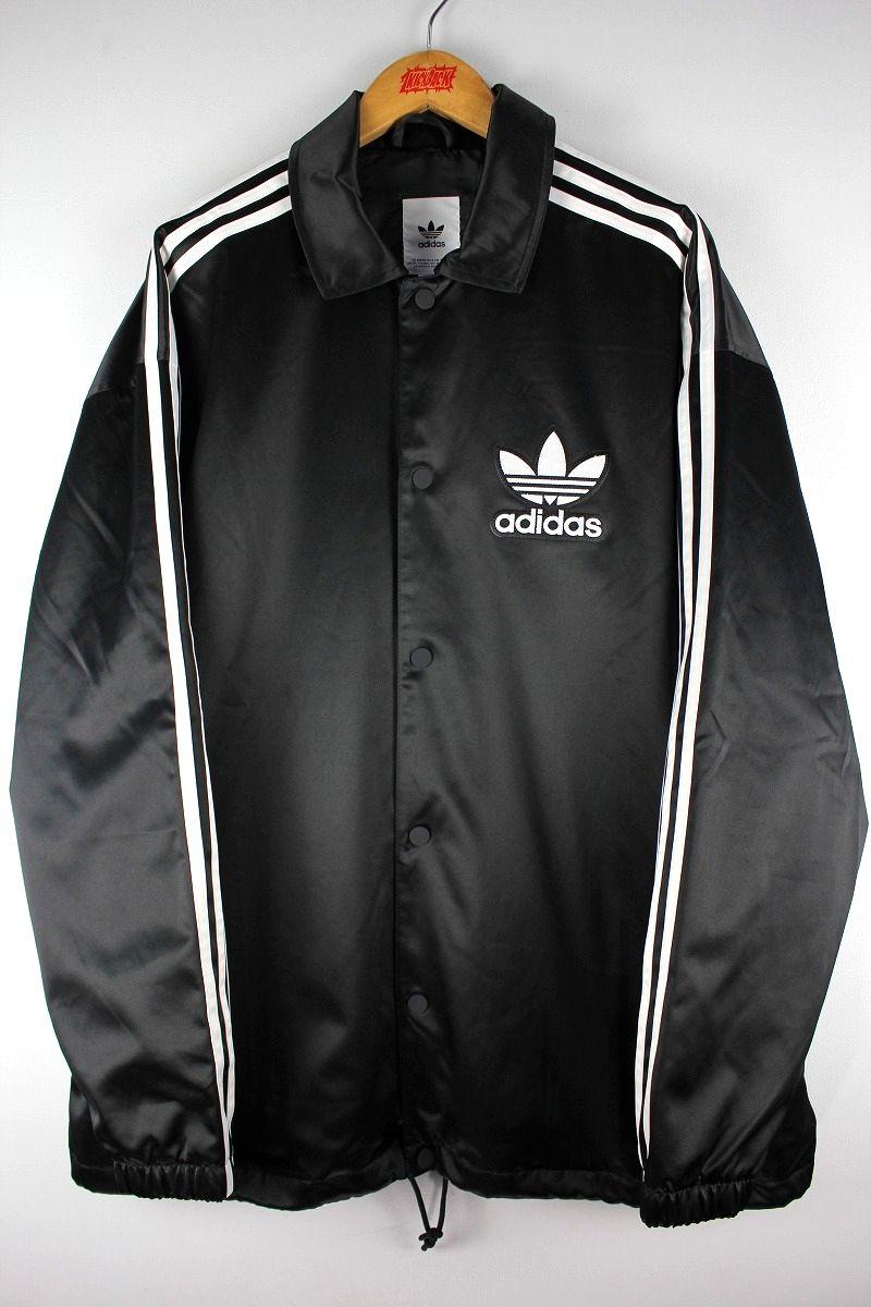adidas ORIGINALS / SATIN COACH JACKET / black×white