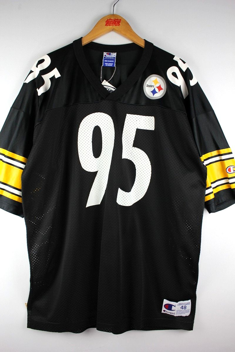 "USED!!! CHAMPION / ""PITTSBURGH STEELERS"" FOOTBALL JERSEY (90'S) / black×yellow×white"