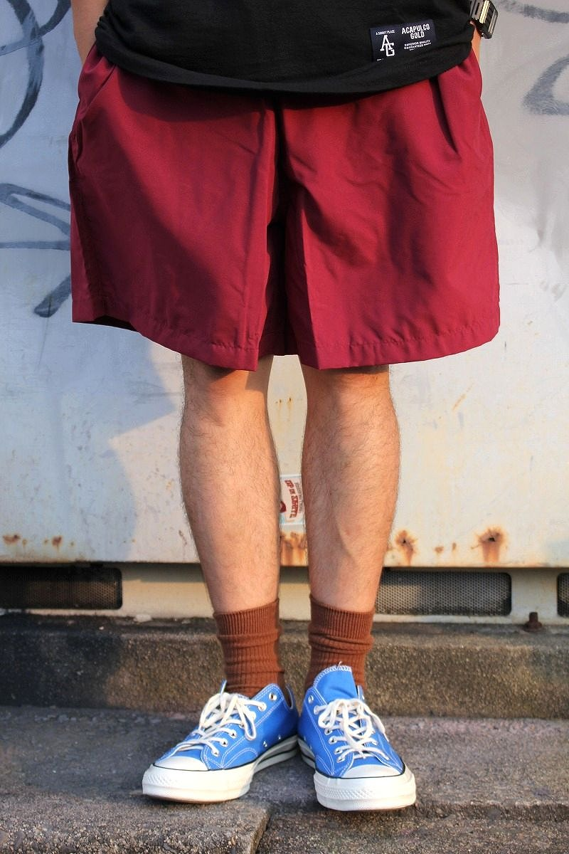 COBRA CAPS /  MICROFIBER SHORTS / burgundy