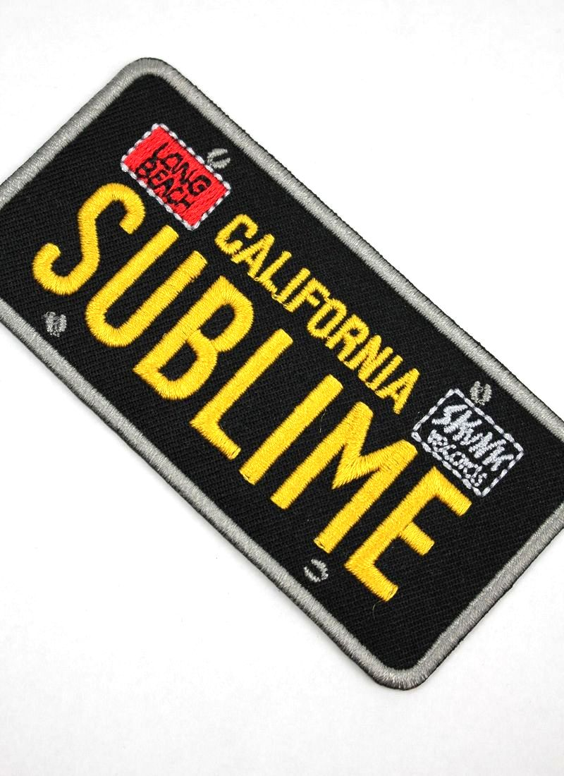 "SUBLIME / ""LICENSE PLATE"" PATCH"