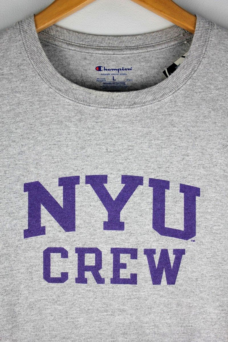 "USED!!! CHAMPION / ""NEWYORK UNIVERSITY"" Tee / heather grey"