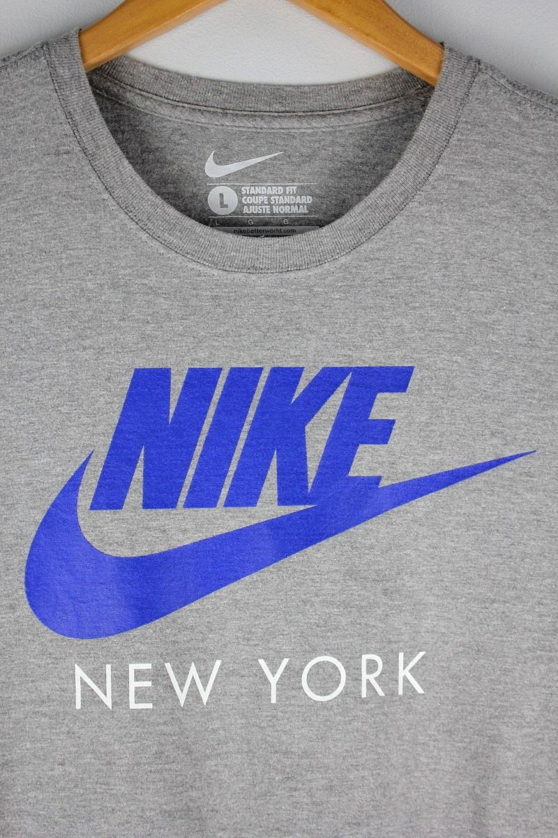 "USED!!! NIKE / ""NEWYORK"" Tee / heather grey"