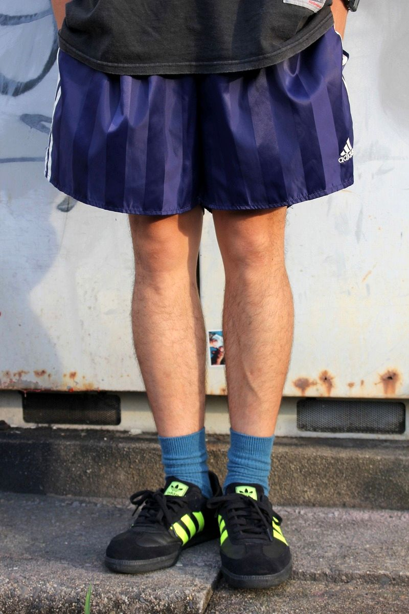 USED!!! adidas / SOCCER SHORTS (90'S) / navy×white