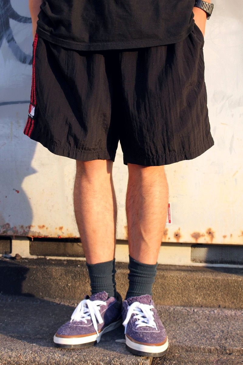 USED!!! adidas / SOCCER SHORTS (90'S) / black×red