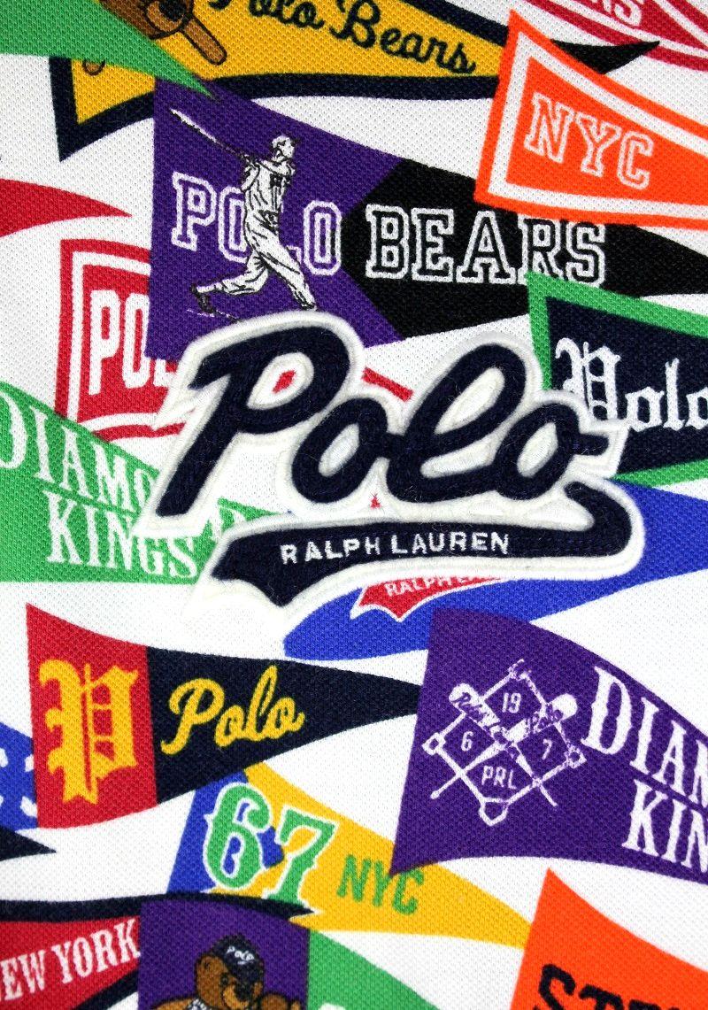 "POLO RALPH LAUREN / ""PENNANT"" ALLOVER PRINT POLO SHIRTS"