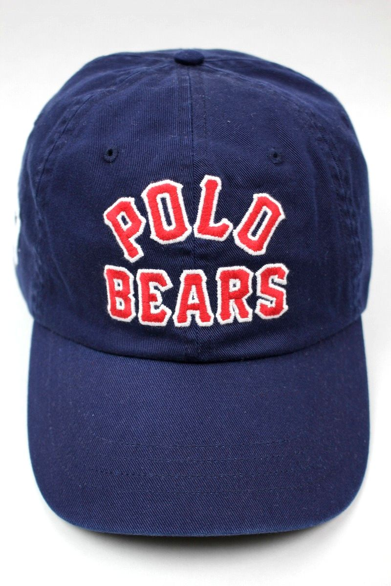 """POLO RALPH LAUREN / """"POLO BEAR"""" STRAPBACK CAP / navy"""