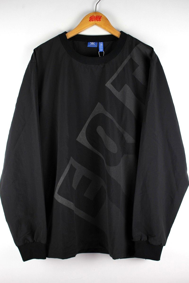 adidas EQUIPMENT / REFLECTOR LOGO NYLON CREW / black