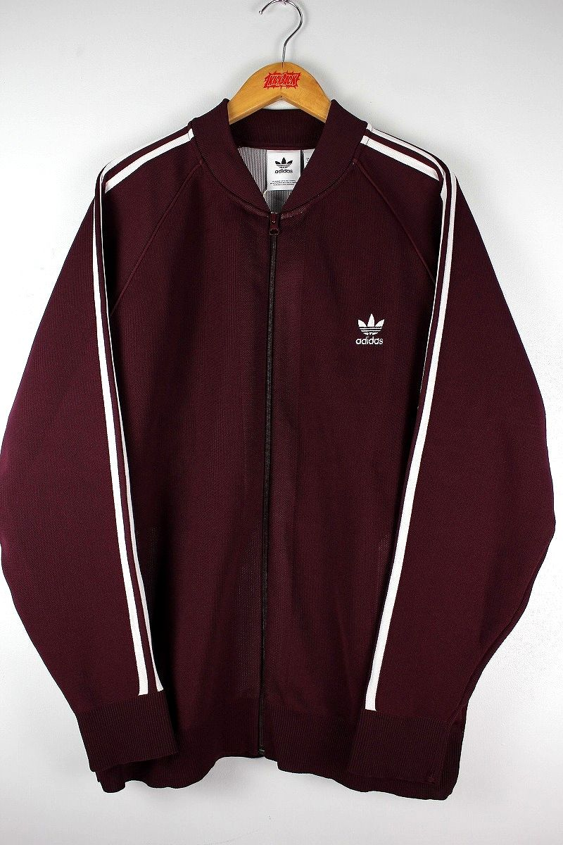adidas ORIGINALS / KNIT TRACK JERSEY / burgundy×white