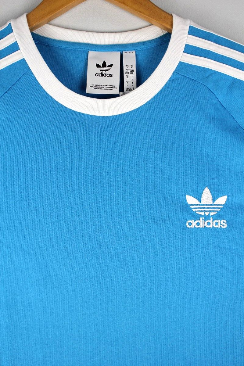 adidas ORIGINALS / 3-STRIPES RAGLAN Tee / light blue×white