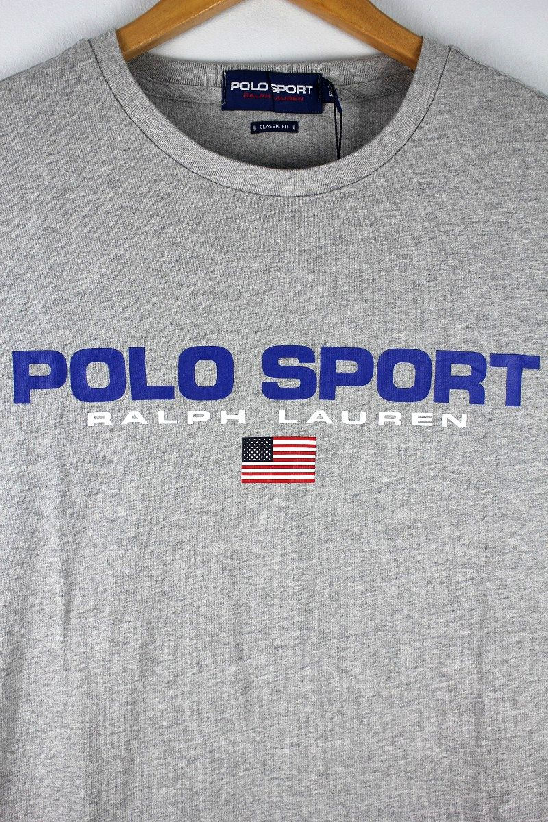 POLO SPORT / LOGO Tee / heather grey