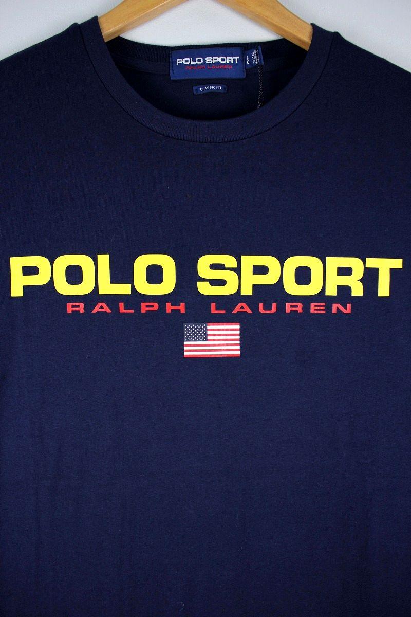 POLO SPORT / CLASSIC LOGO Tee / navy