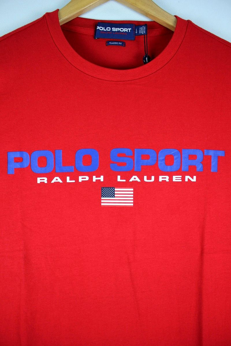 POLO SPORT / CLASSIC LOGO Tee / red