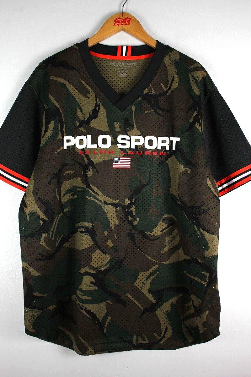 POLO SPORT / CAMO MESH JERSEY / black