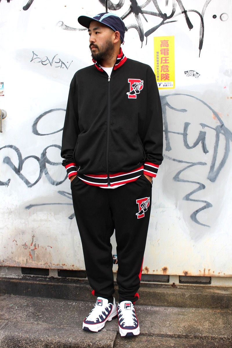 "POLO RALPH LAUREN / ""P-WING"" SET-UP JERSEY / black×red×white"