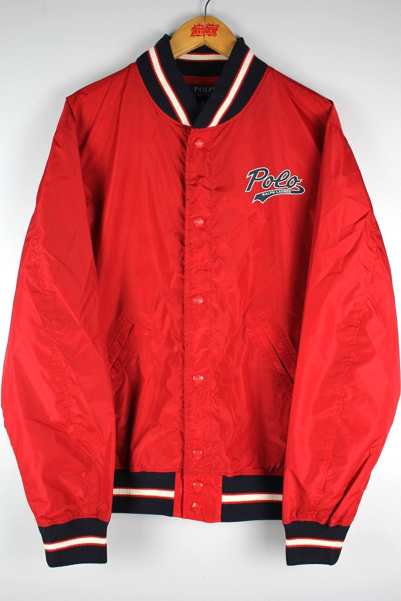 POLO RALPH LAUREN / NYLON STADIUM JACKET / red×navy×white
