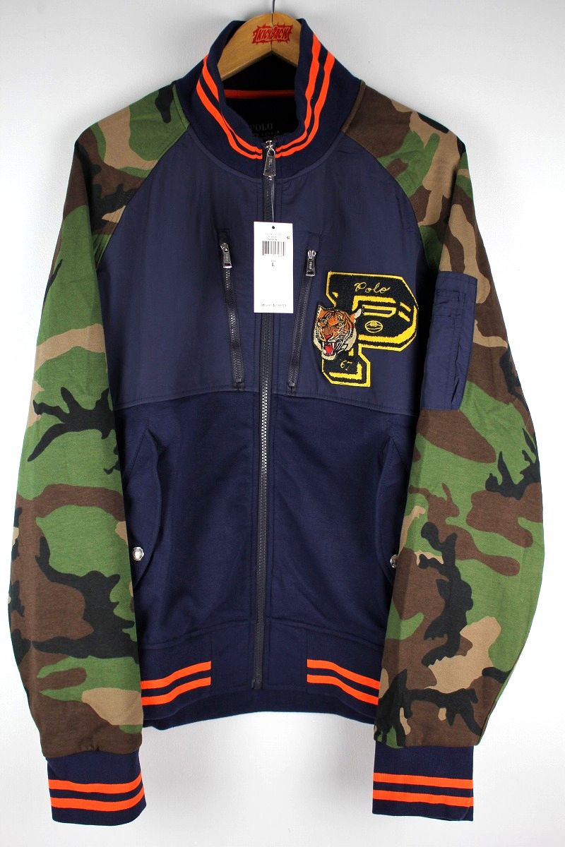 "POLO RALPH LAUREN / ""TIGER-P"" FLIGHT JACKET / navy×woodland camo"