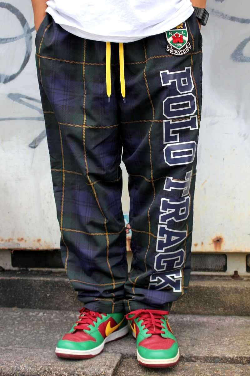 POLO RALPH LAUREN / PLAID NYLON PANTS / tartan