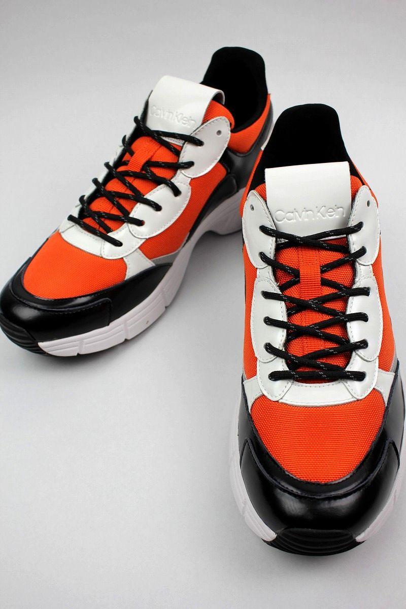 Calvin Klein / DAXTON BALLSTIC NYLON / orange×black×white×silver