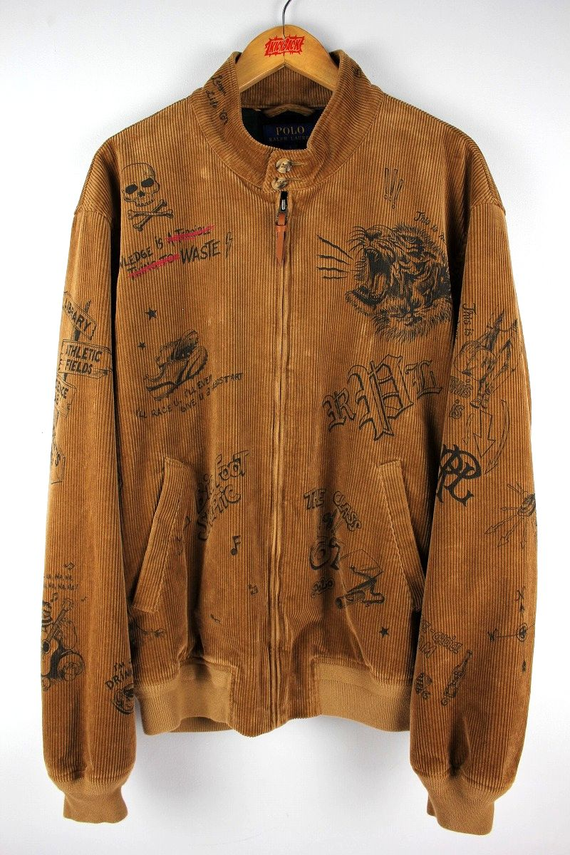 POLO RALPH LAUREN / PRINT STRETCH CORDUROY JACKET / light brown