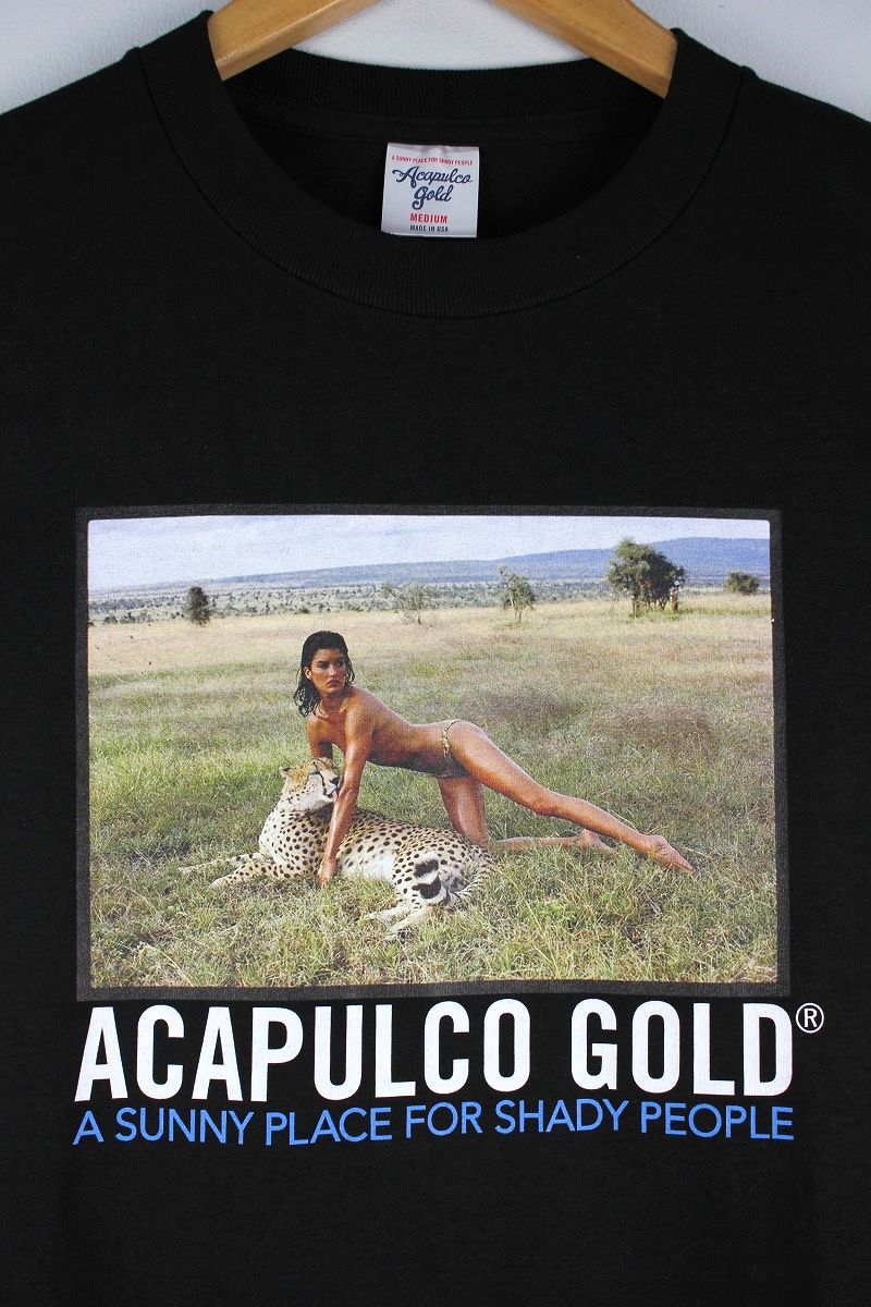 "ACAPULCO GOLD / ""LEOPARD"" Tee / black"