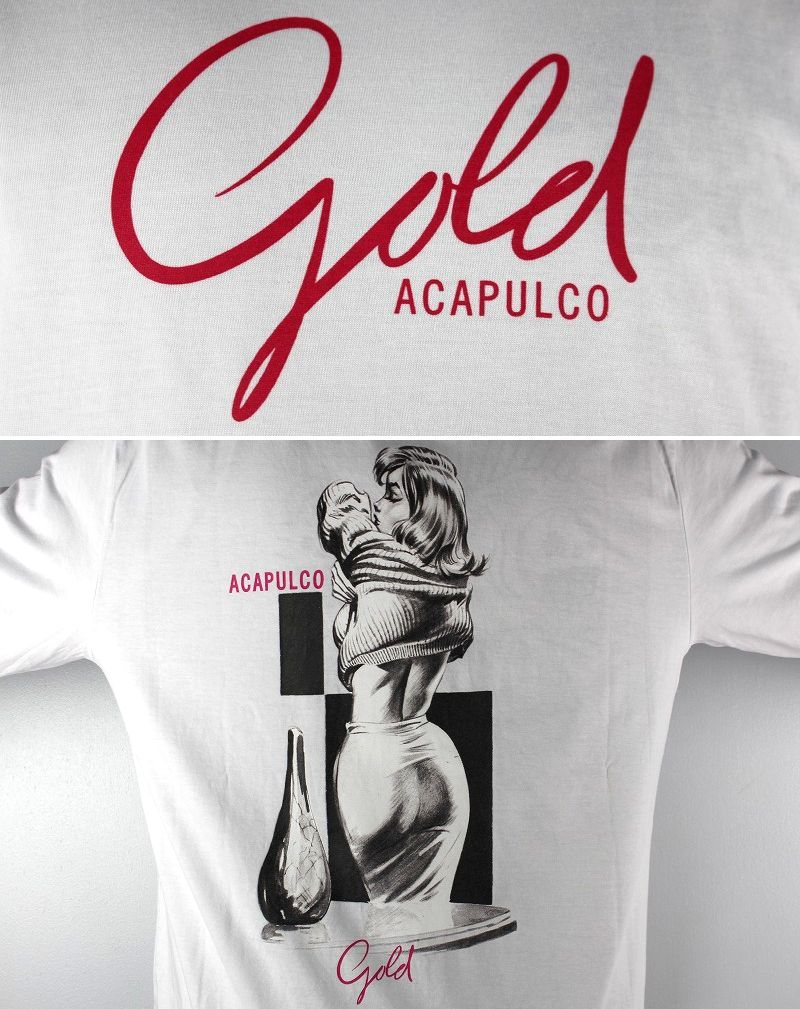 "ACAPULCO GOLD / ""PINK"" LS Tee / white"