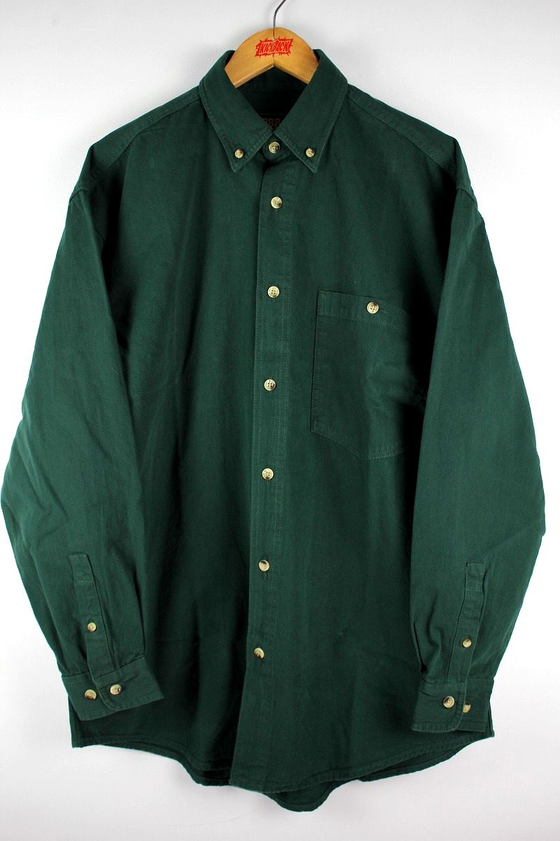COBRA CAPS / RELAX FIT LS DENIM SHIRTS / dark green