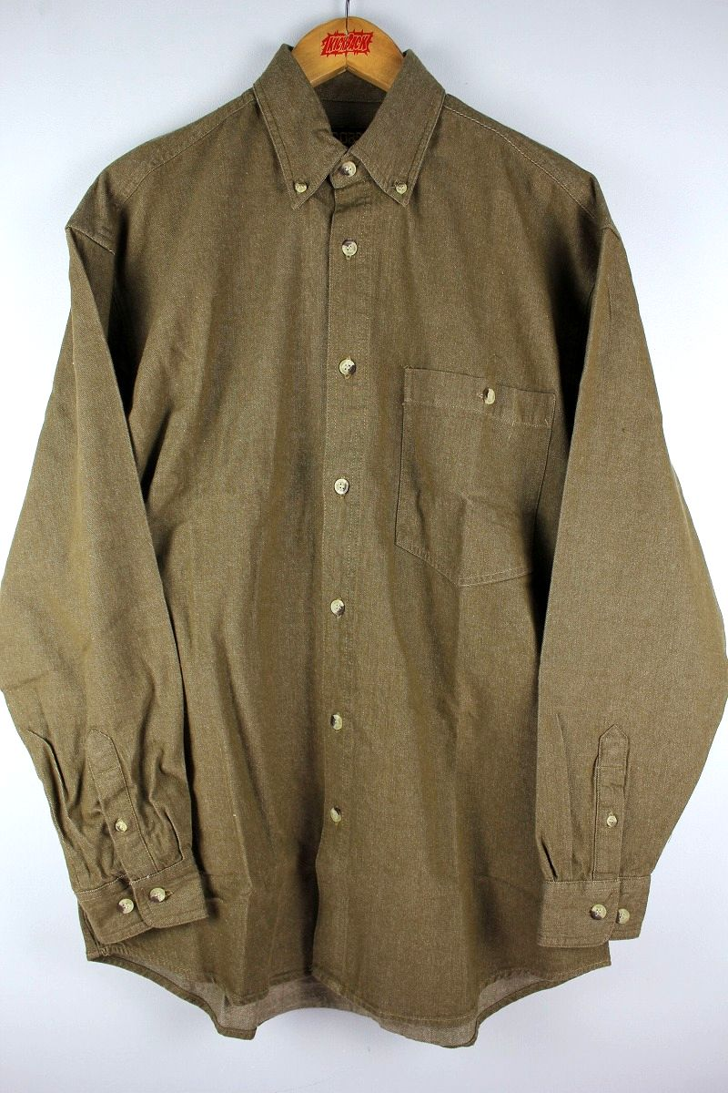 COBRA CAPS / RELAX FIT LS DENIM SHIRTS / brown
