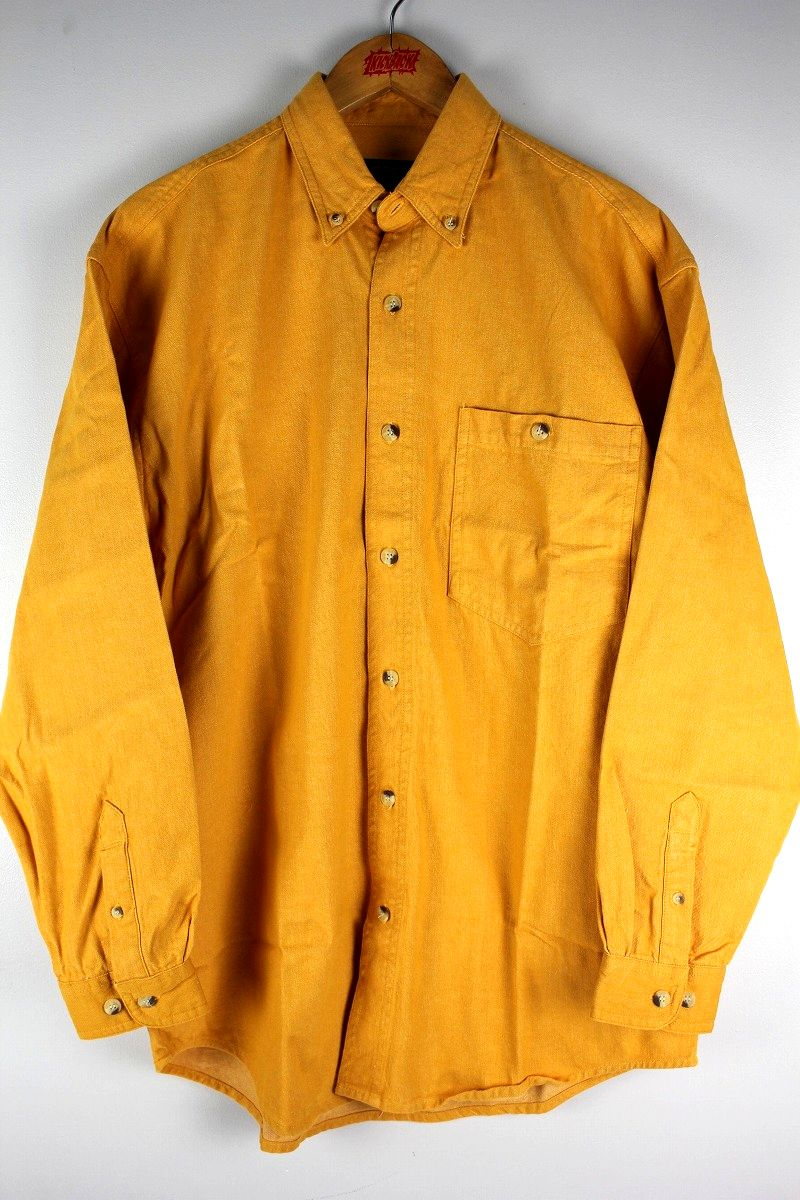 COBRA CAPS / RELAX FIT LS DENIM SHIRTS / mustard
